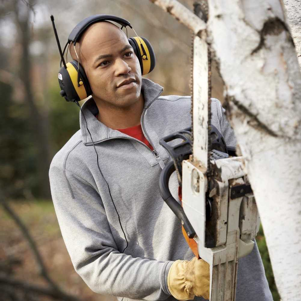 3M WorkTunes Hearing Protector - Special Father's Day Gifts For Dad - Chainsaw