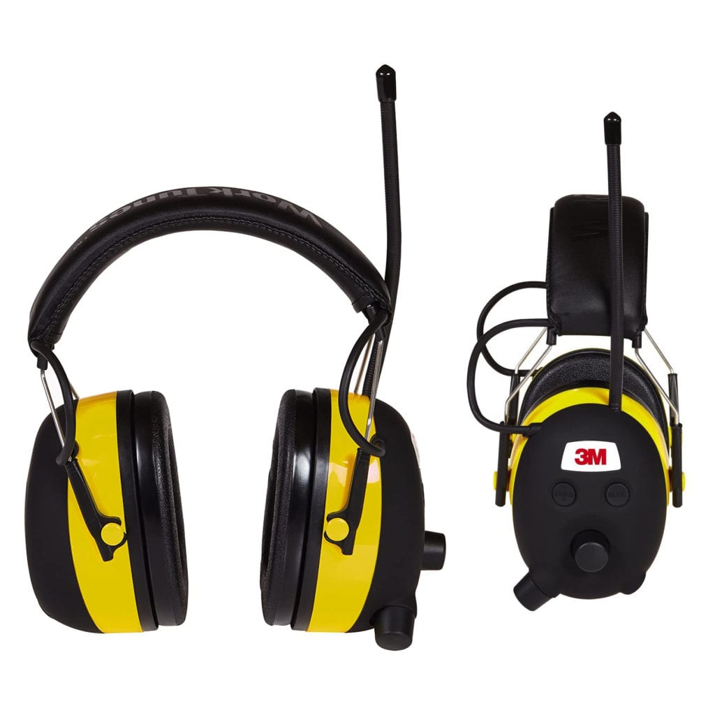3M WorkTunes Hearing Protector - Special Father's Day Gifts For Dad - Front and Side View