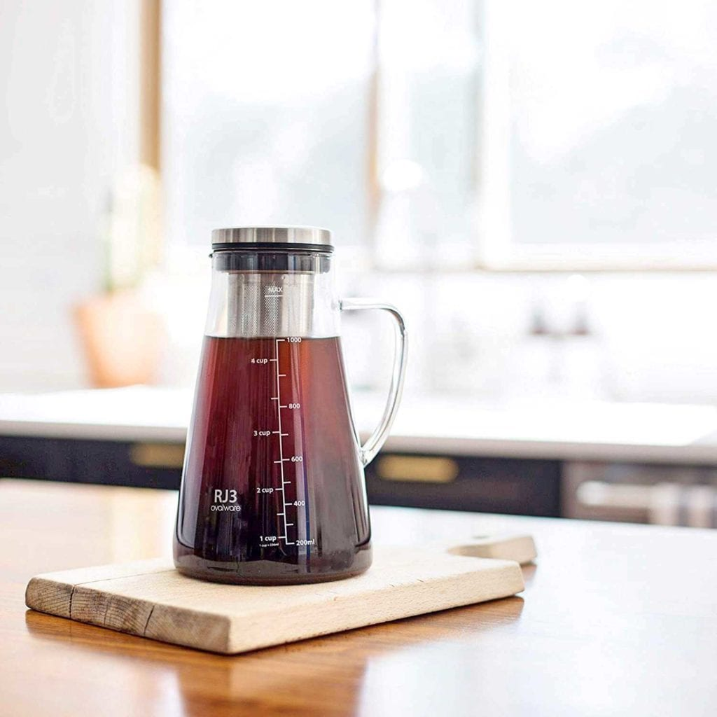 Airtight Cold Brew Coffee Maker and Tea Infuser - Fun Valentine's Gift For Men - In Kitchen