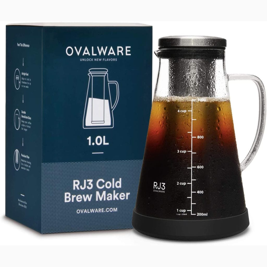 Airtight Cold Brew Coffee Maker and Tea Infuser - Fun Valentine's Gift For Men - With Box