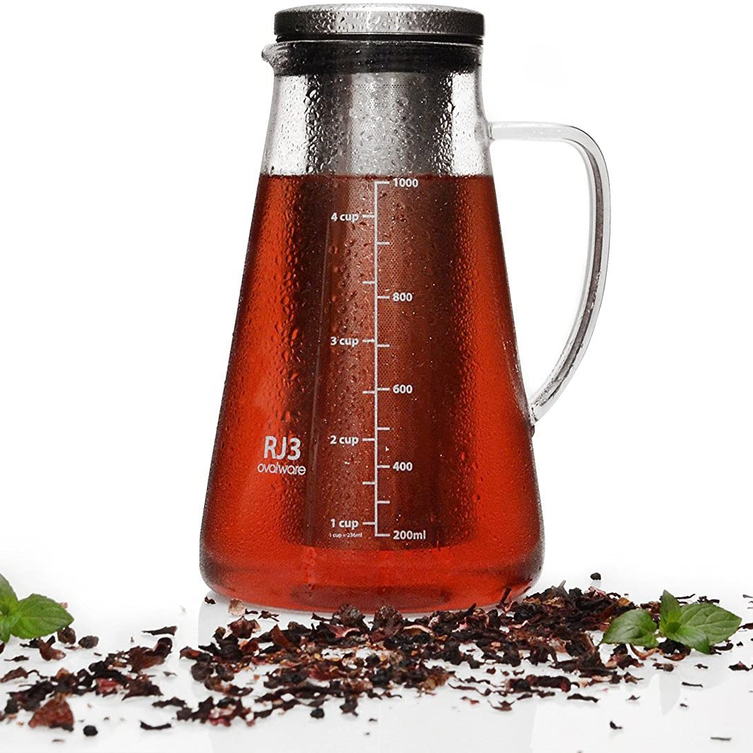 Airtight Cold Brew Iced Coffee Maker and Tea Infuser Close Up