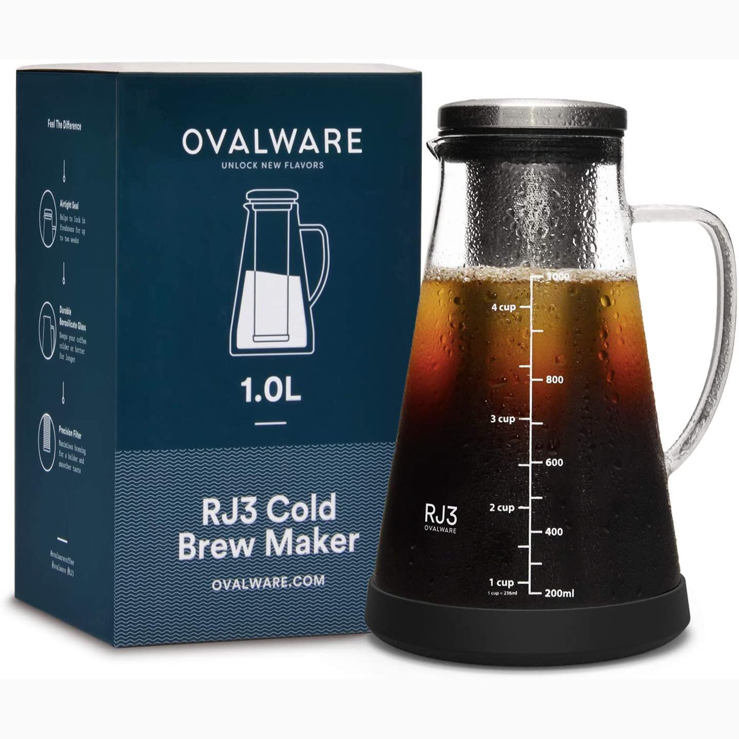 Airtight Cold Brew Iced Coffee Maker and Tea Infuser Still