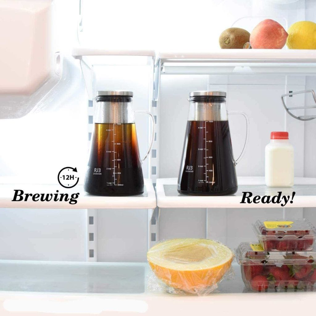 Cold Brew Coffee Maker and Tea Infuser - Fun Valentine's Gift For Men - Brewing