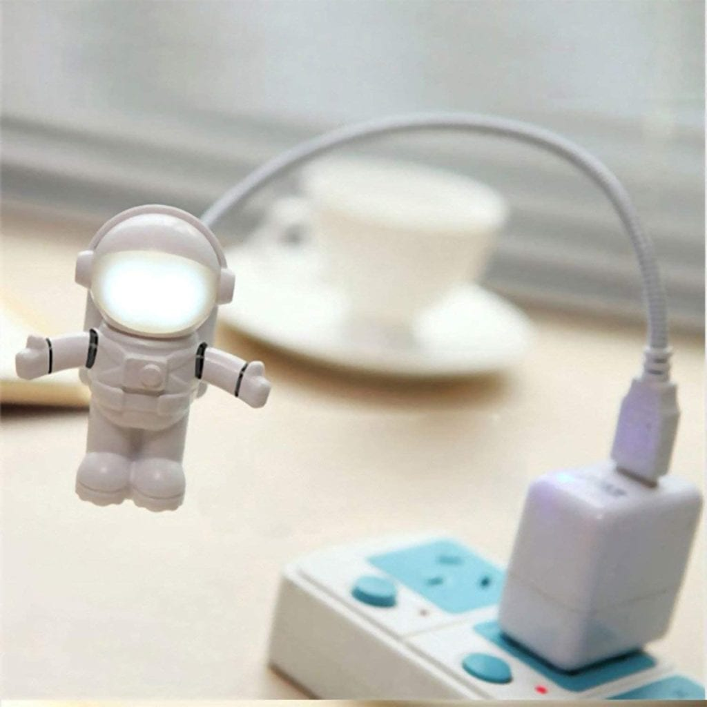 Astronaut USB LED Light Cool Birthday Gifts For Guys Plugged In To Outlet