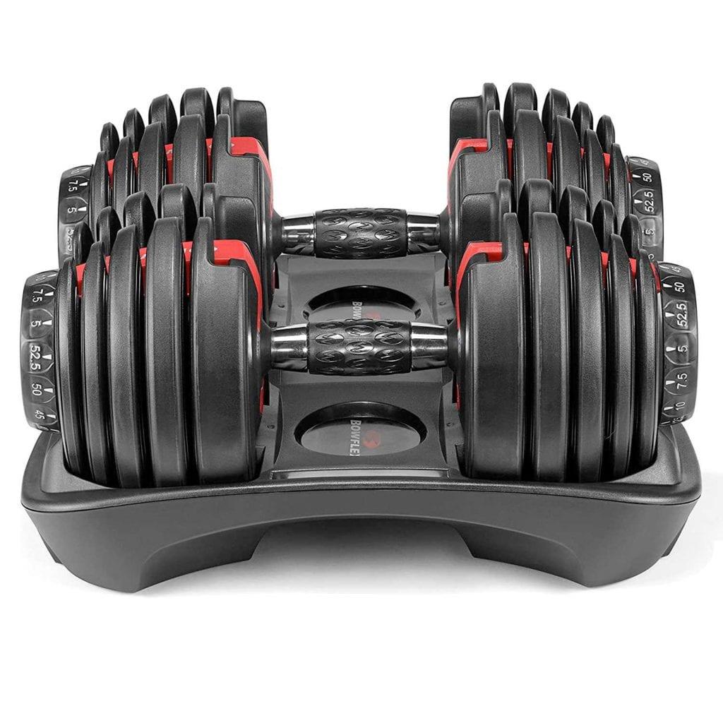 Bowflex SelectTech Adjustable Dumbbells Side View - Unique Mens Christmas Gifts