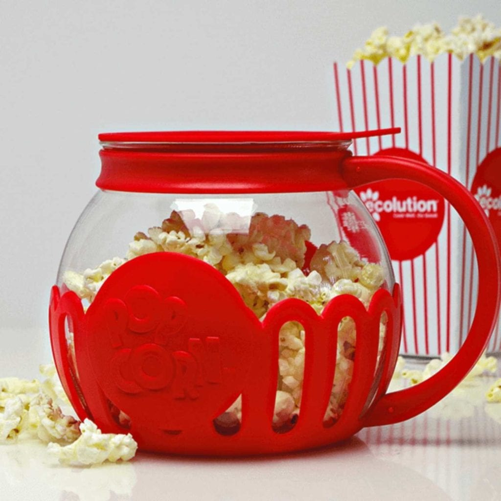 Micro-Pop Microwave Hot Air Popcorn Maker Side View - Creative Anniversary Presents For Him