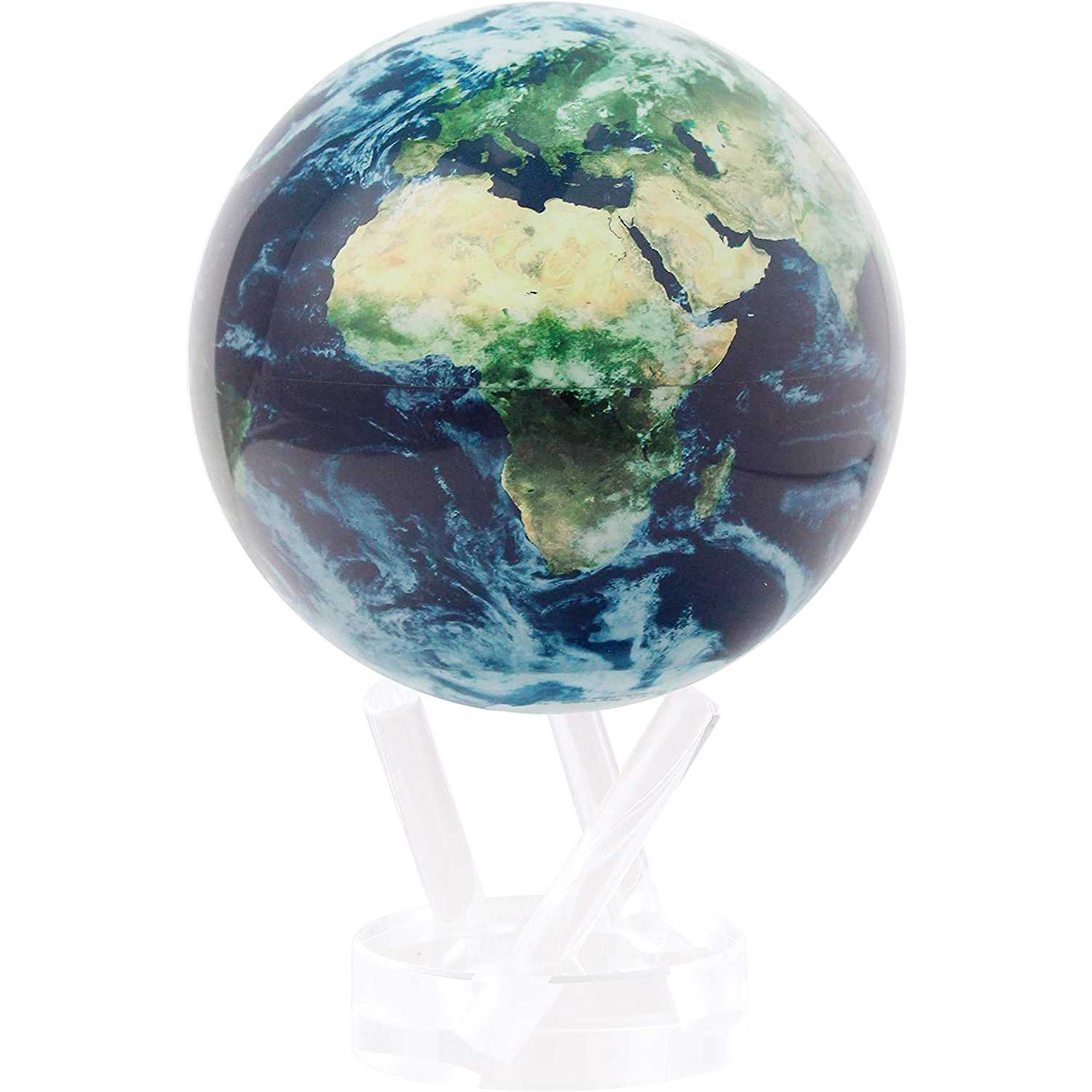 Solar Powered Rotating Earth with Clouds Globe Main Image - High End Christmas Gifts For Men