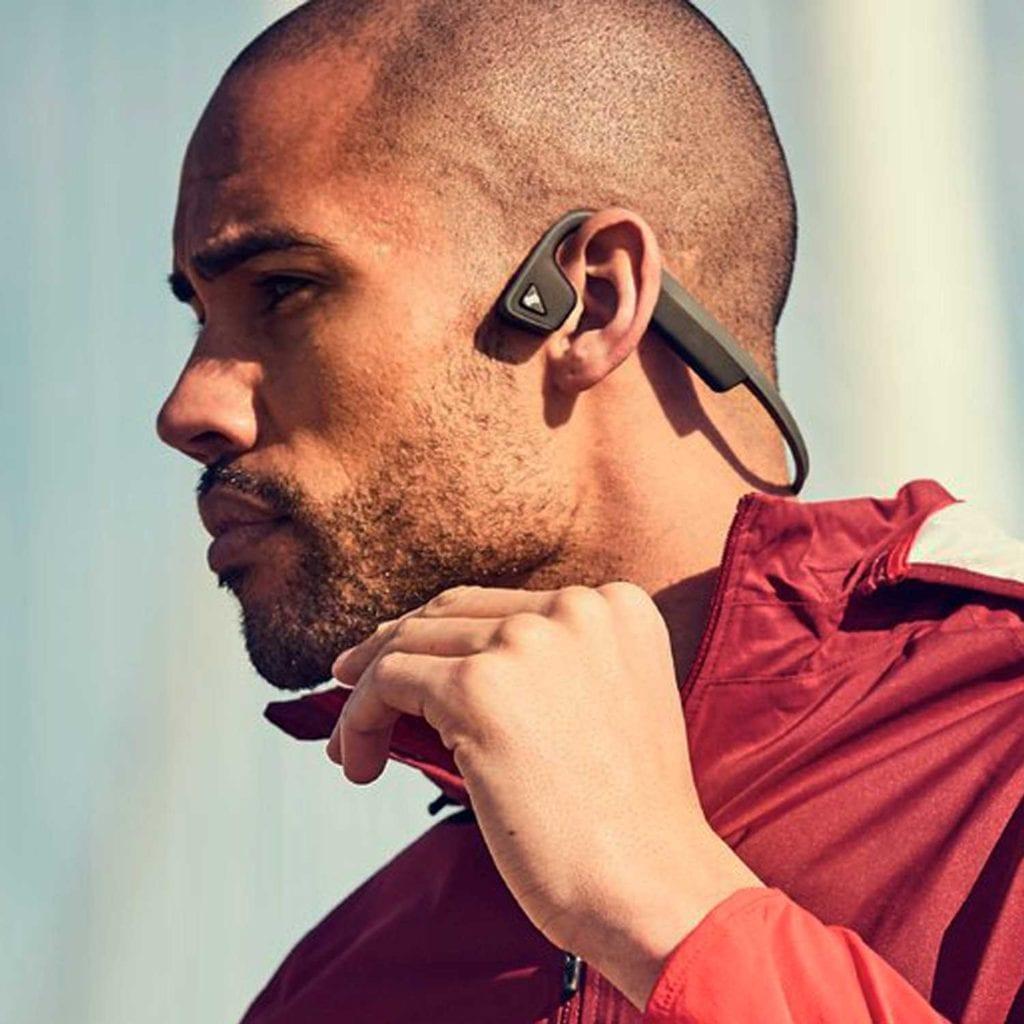 AfterShokz Titanium Bone Conduction Wireless Headphones Running - Cool Birthday Gifts For Guys