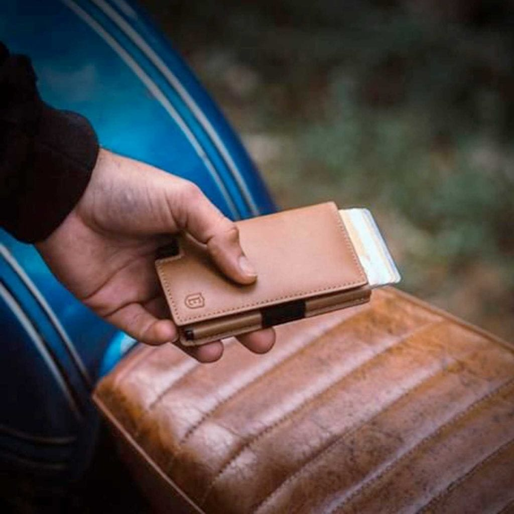 Ekster Secure Premium Trackable Leather Wallet in Woods - Luxury Anniversary Gift Ideas For Him