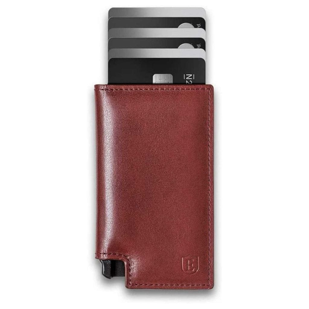 Ekster Secure Premium Trackable Leather Wallet with Cards - Luxury Anniversary Gift Ideas For Him