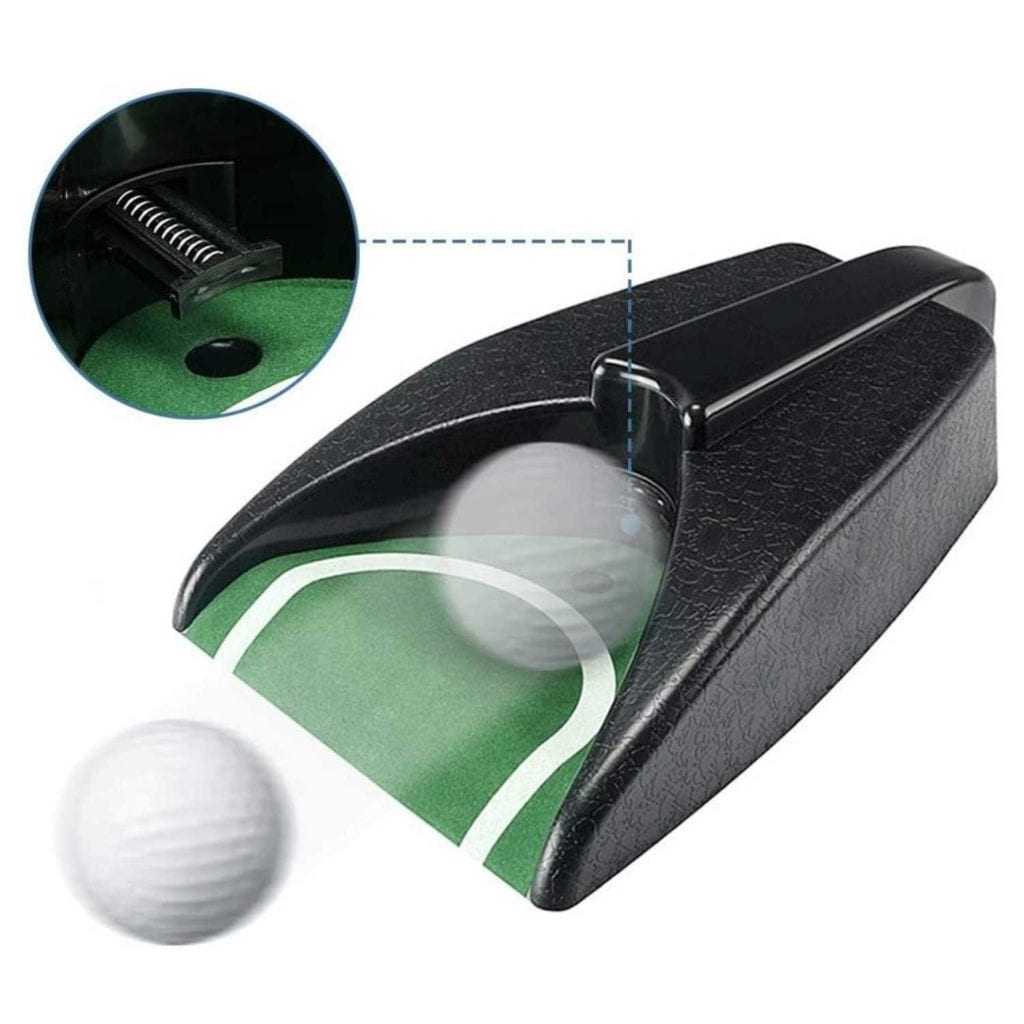 Golf Practice Putting Cup With Automatic Piston Return Impactor - Fathers Day Gifts For Dad Who Wants Nothing
