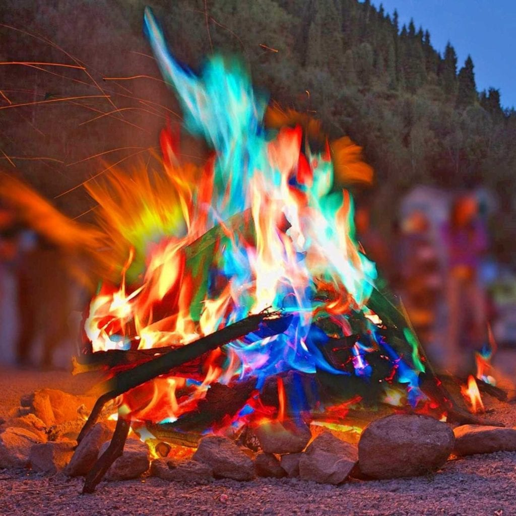 Magical Flames Vibrant Fire Color Changing Packets Bonfire - Cool Birthday Gifts For Guys