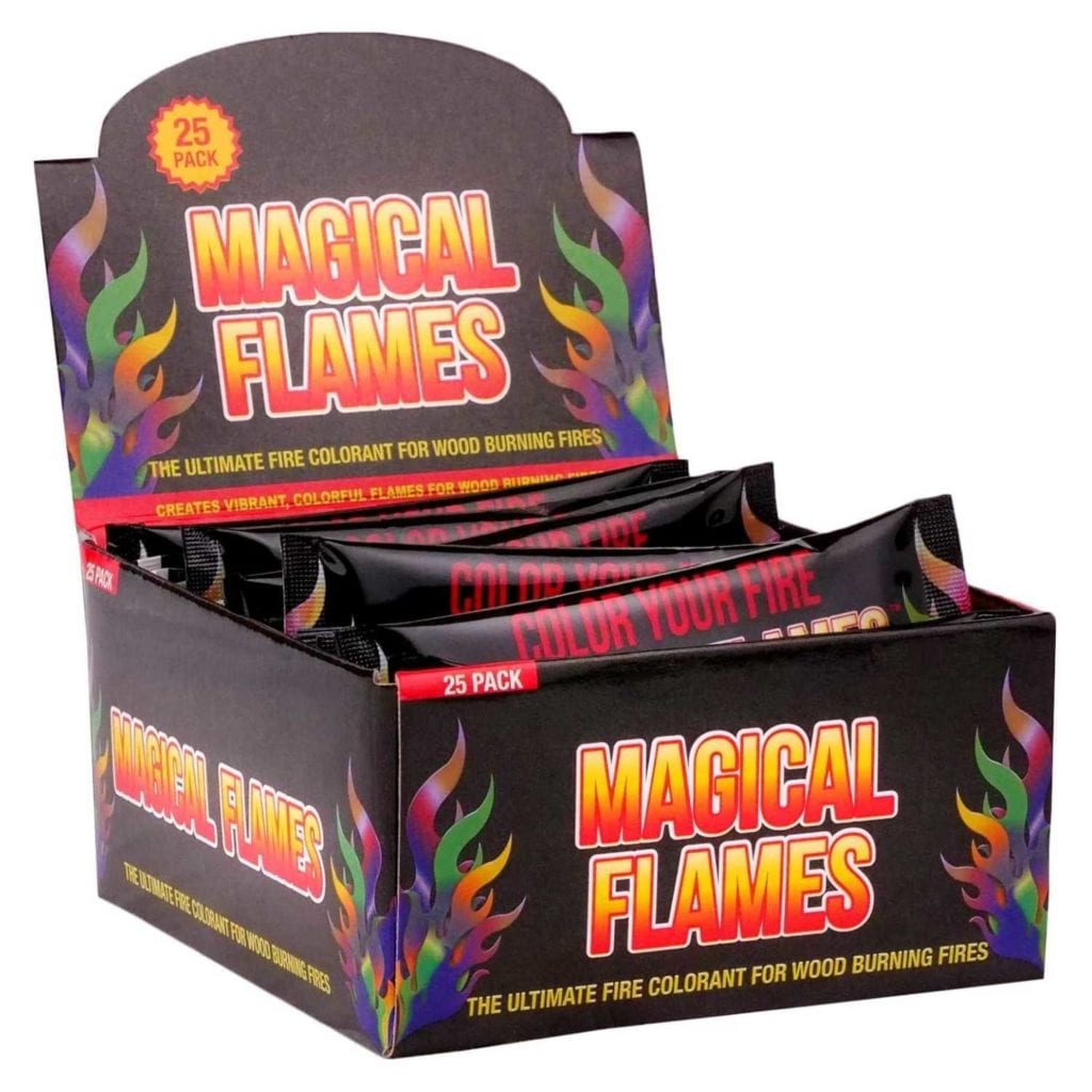 Magical Flames Vibrant Fire Color Changing Packets Main Image - Cool Birthday Gifts For Guys