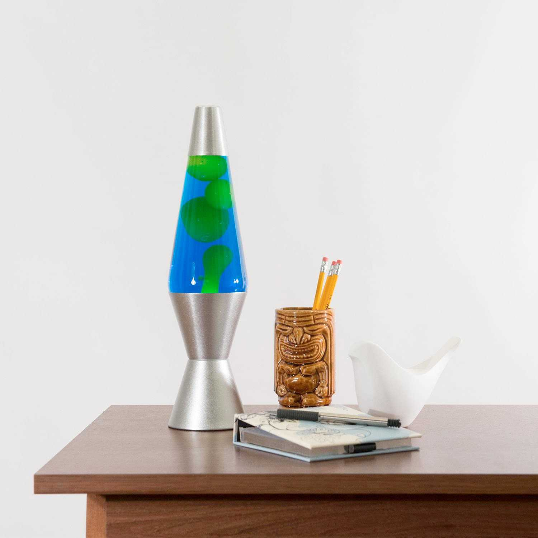 Original Aluminum Art Deco Lava Lamp Green - Creative Valentines Gifts For Husband