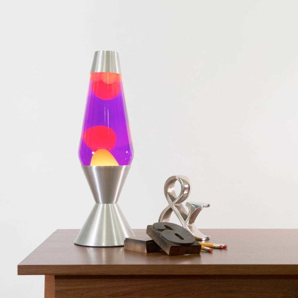 Original Aluminum Art Deco Lava Lamp on Desk - Creative Valentines Gifts For Husband