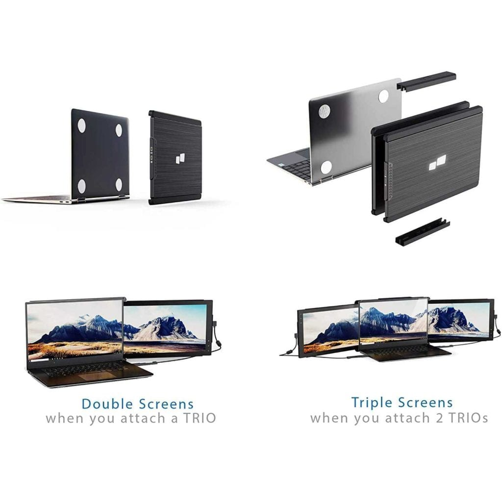 Trio Max Add On Slide Out Laptop Monitor Two or Three - High End Christmas Gifts For Son