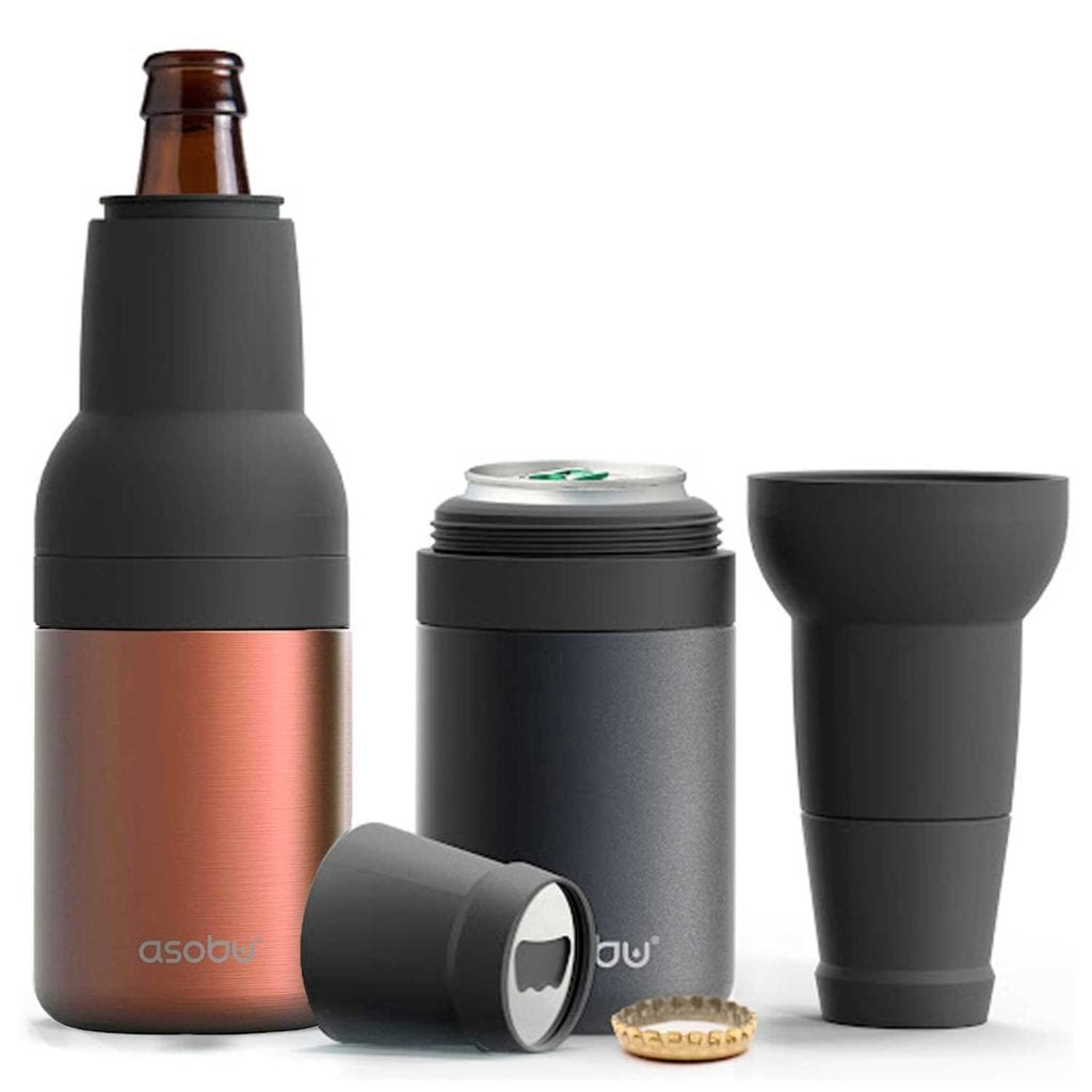 Deluxe 2-in-1 Stainless Steel Beer Bottle and Can Cooler Full Spread - Cool Birthday Gifts For Guys