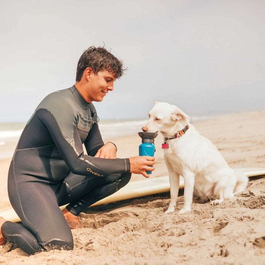 Leak Proof Dog Water Bottle Hydration System Beach - Coolest Birthday Gifts For Pet Lovers