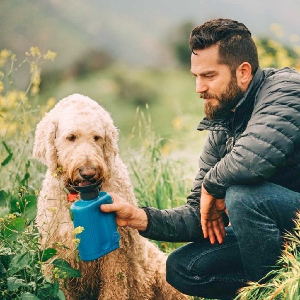 Leak Proof Dog Water Bottle Hydration System Hike - Coolest Birthday Gifts For Pet Lovers