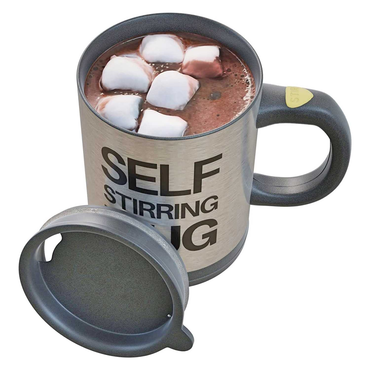 Battery Powered Self Stirring Stainless Steel Travel Mug Hot Chocolate - Funny Valentine's Gifts For Guys